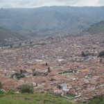 View from the top:  Beautiful Cusco