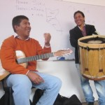 Mauro describes the origin of Andean music