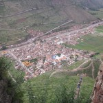 The town of Pisac -- down we go