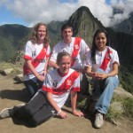 In their Peru soccer jerseys