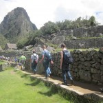 Walking past the festival grounds on our way to Huayna Picchu