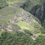 The view of Machu Picchu from the summit