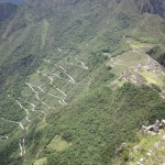 Our bus climbed these switchbacks to bring us up from the valley floor
