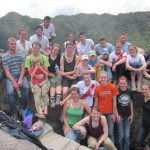 Gathered on top of Huayna Picchu