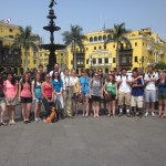 Our group in front of the fountain