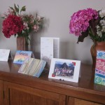 Each card contains a thank you note and a group photo from Machu Picchu