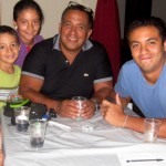 With her host family, Ana Laura, Chabuca, Matias, Camila, Victor and Sebastian