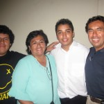 With Richie, Cecilia and Eduardo