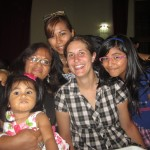 With Luana, Flor, Pamela and Ariana