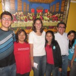With her host family, Luis, Tania, Deisi, Fernando and Tania (daughter)