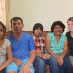 Grace with her host family -- Estrellita, Marcos, Jefferson and Bertha