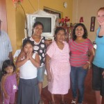 With the rest of her family -- Emilio, Sara, Rosa and Roxana