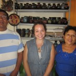 Allison with her host parents, Miguel and Jesus Maria