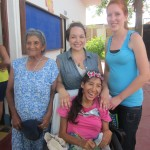 With Maria Jaime and her grandmother -- well done!