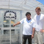 Outside the solar fruit dehydrator