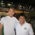 With Jose inside the tasting room -- coffee and fruit product samples served here