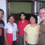 Rafael and Alisha with the Center's director, Doris Espinoza, and staff