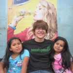 Eric with his host sisters, Almendra and Camila