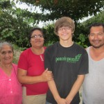 Eric with his host grandparent, mother and father, Trinidad, Rosa and Luis Alberto