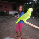 Valeria and the family bird