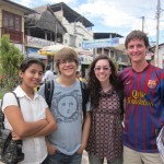 Erich, Annabeth and a friend meet up with Erich on the main plaza in La Merced
