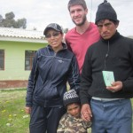With Miriam, a local boy and his father