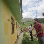 Painting the school to make it ready for a new year