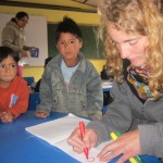 Children learn Spanish here -- they speak Quechua at home