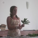 Dana gives her presentation on medicinal plants...