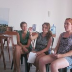 Corine, Allison and Chelsea read excerpts from Hannah's interviews