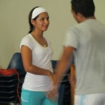 Beatriz joins Pedro to teach several dances