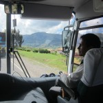 On the road with our guide, Oswaldo Palomino