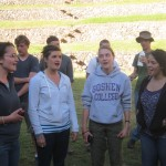 Members of the Women's World Music Choir perform a Czech Mountain Song