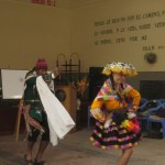 Herbert and Jesica demonstrate a folkloric dance