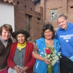 With their host grandmother and mother, Margarita