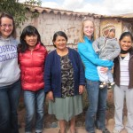 With their host, Juana, her mother, Silveria, and children