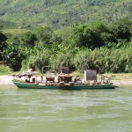 Ferries are used to cross the Perene River