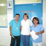 With hospital staff
