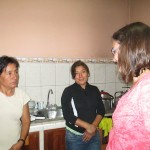 In the kitchen with Teofila and Yeny