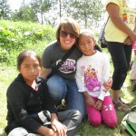 With her nieces, who are also sponsored