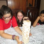 Playing a game -- remove a piece of the tower without toppling it!