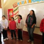 Singing is a new experience for many of these children