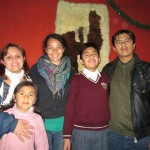 With her host family, Deyadira, Isabel, Adrian and Abraham