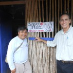 Willy and Dr. Paul outside the clinic in Tampe