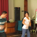 Pedro and Beatriz are professional dancers who love to teach