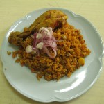 This dish is a variation of Arroz con Pollo (Rice with Chicken)