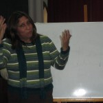 Laura teaches Peruvian Sign Language