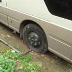 Oh no, a flat tire!