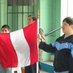 Singing Peru's national anthem