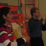 "Clelia Ocampo presents ""Education for Deaf Children"" -- Joseph interprets from Spanish into sign language"